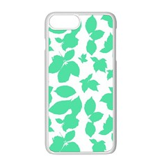 Botanical Motif Print Pattern iPhone 8 Plus Seamless Case (White)