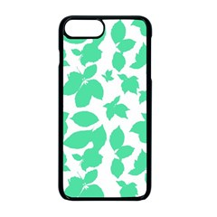 Botanical Motif Print Pattern iPhone 8 Plus Seamless Case (Black)