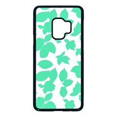 Botanical Motif Print Pattern Samsung Galaxy S9 Seamless Case(Black)