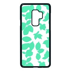 Botanical Motif Print Pattern Samsung Galaxy S9 Plus Seamless Case(Black)