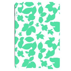 Botanical Motif Print Pattern Apple iPad Mini 4 Black UV Print Case