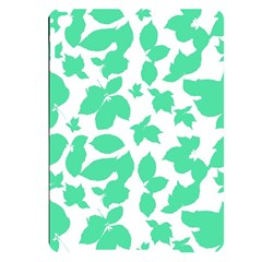Botanical Motif Print Pattern Apple iPad Pro 9.7   Black UV Print Case
