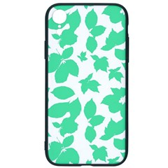 Botanical Motif Print Pattern iPhone XR Soft Bumper UV Case