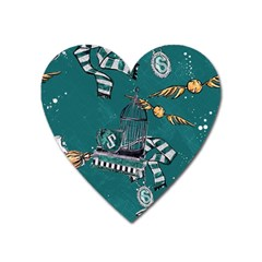 Slytherin Pattern Heart Magnet by Sobalvarro