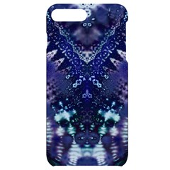 Blue Fractal Lace Tie Dye Iphone 7/8 Plus Black Uv Print Case by KirstenStar
