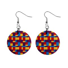 Lego Background Game Mini Button Earrings