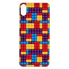 Lego Background Game Iphone X/xs Soft Bumper Uv Case by Mariart