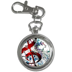 Music Treble Clef Sound Key Chain Watches