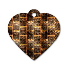 Wallpaper Iron Dog Tag Heart (one Side) by HermanTelo