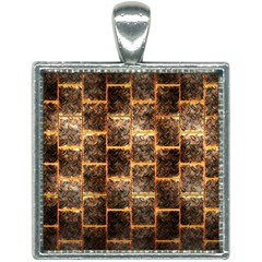 Wallpaper Iron Square Necklace