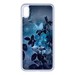 Elegant Floral Design With Butterflies Iphone Xs Max Seamless Case (white) by FantasyWorld7