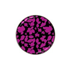 Dark Botanical Motif Print Pattern Hat Clip Ball Marker (4 Pack) by dflcprintsclothing