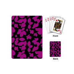 Dark Botanical Motif Print Pattern Playing Cards Single Design (mini) by dflcprintsclothing