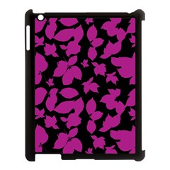 Dark Botanical Motif Print Pattern Apple Ipad 3/4 Case (black) by dflcprintsclothing
