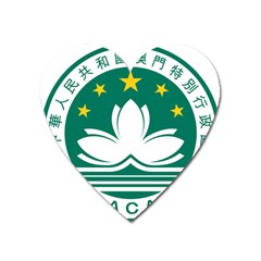Emblem Of Macao Heart Magnet by abbeyz71
