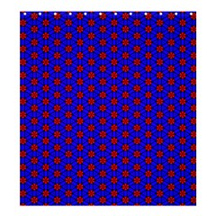 Blue Pattern Red Texture Shower Curtain 66  X 72  (large)  by Mariart
