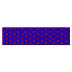Blue Pattern Red Texture Satin Scarf (oblong)