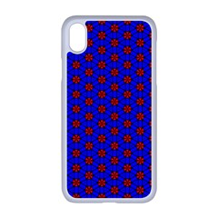 Blue Pattern Red Texture Iphone Xr Seamless Case (white)
