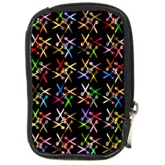 Scissors Pattern Colorful Prismatic Compact Camera Leather Case