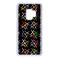 Scissors Pattern Colorful Prismatic Samsung Galaxy S9 Seamless Case(white) by HermanTelo