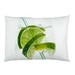 Lime Club Soda Drink Cocktail Pillow Case (two Sides)