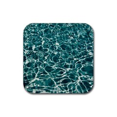Pool Swimming Pool Water Blue Rubber Coaster (square)