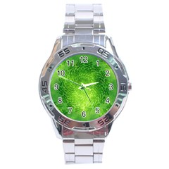 Pagan Mandala Seamless Tileable Green Stainless Steel Analogue Watch