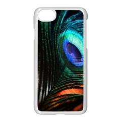 Green And Blue Peacock Feather Iphone 7 Seamless Case (white) by Pakrebo
