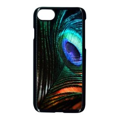 Green And Blue Peacock Feather Iphone 8 Seamless Case (black) by Pakrebo