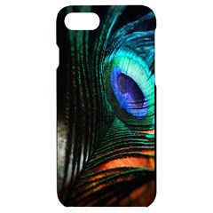 Green And Blue Peacock Feather Iphone 7/8 Black Uv Print Case by Pakrebo