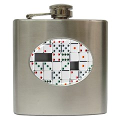 Dominos Dots Fun Hip Flask (6 Oz)