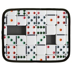 Dominos Dots Fun Netbook Case (large) by Pakrebo