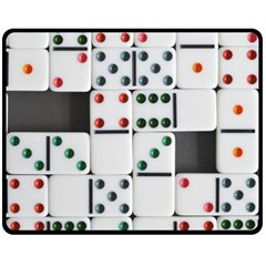 Dominos Dots Fun Fleece Blanket (medium)  by Pakrebo