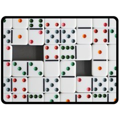 Dominos Dots Fun Double Sided Fleece Blanket (large)