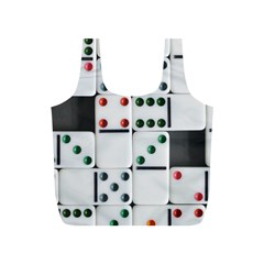Dominos Dots Fun Full Print Recycle Bag (s) by Pakrebo