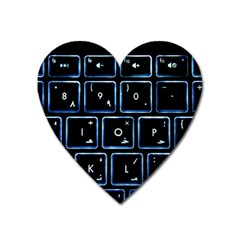Contemporary Electronics Graphic Modern Heart Magnet by Pakrebo