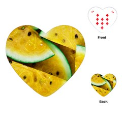 Sliced Watermelon Lot Playing Cards Single Design (heart) by Pakrebo