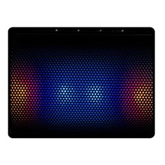 Black Portable Speaker Fleece Blanket (small) by Pakrebo