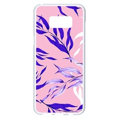 Floral Boho Watercolor Pattern Samsung Galaxy S8 Plus White Seamless Case by tarastyle