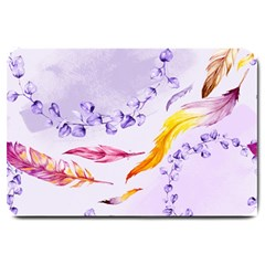 Floral Boho Watercolor Pattern Large Doormat  by tarastyle