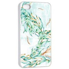 Floral Boho Watercolor Pattern Iphone 4/4s Seamless Case (white) by tarastyle