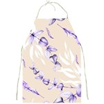Floral Boho Watercolor Pattern Full Print Aprons Front