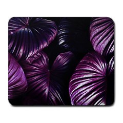 Purple Leaves Large Mousepads
