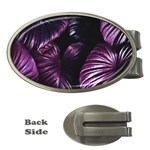 Purple Leaves Money Clips (Oval)  Front