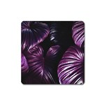Purple Leaves Square Magnet Front