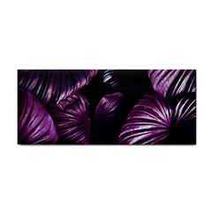 Purple Leaves Hand Towel