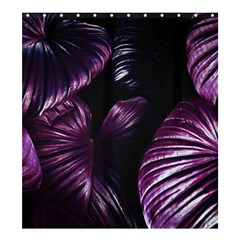 Purple Leaves Shower Curtain 66  X 72  (large)