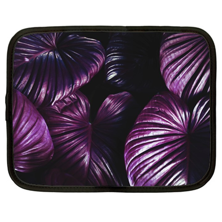 Purple Leaves Netbook Case (XL)