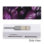 Purple Leaves Memory Card Reader (Stick) Front