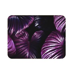 Purple Leaves Double Sided Flano Blanket (mini)